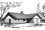 Ranch House Plan Front of Home - 085D-0157 | House Plans and More