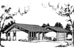 Vacation House Plan Front of Home - 085D-0158 | House Plans and More