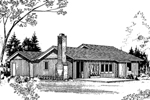 Ranch House Plan Front of Home - 085D-0159 | House Plans and More