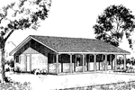 Ranch House Plan Front of Home - 085D-0160 | House Plans and More