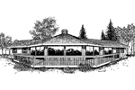 Waterfront Home Plan Front of Home - 085D-0166 | House Plans and More
