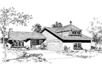 Tudor House Plan Front of Home - 085D-0167 | House Plans and More