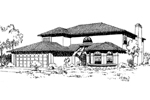 Southwestern House Plan Front of Home - 085D-0168 | House Plans and More