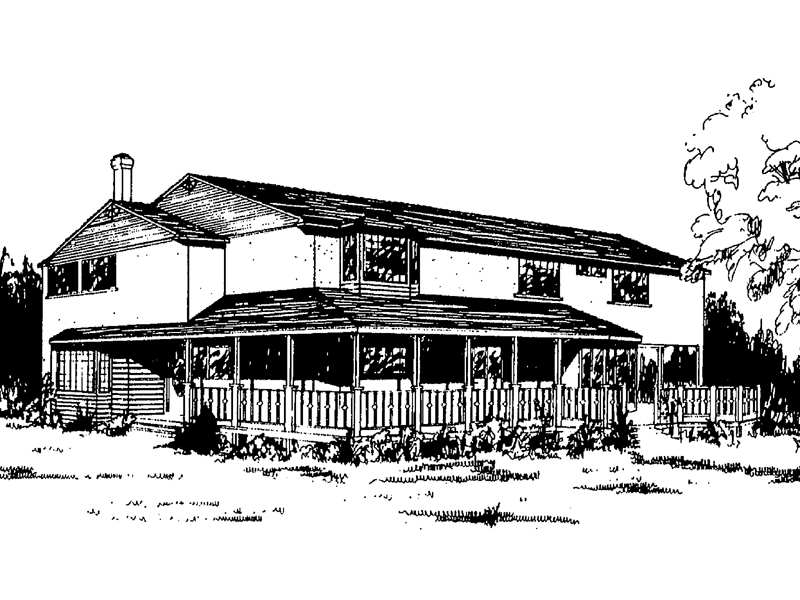 Farmhouse Plan Front of Home - 085D-0171 | House Plans and More