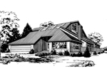 Waterfront Home Plan Front of Home - 085D-0172 | House Plans and More