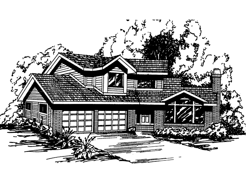 Traditional House Plan Front of Home - 085D-0200 | House Plans and More