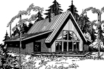 A-Frame Home Offers Rustic Feel