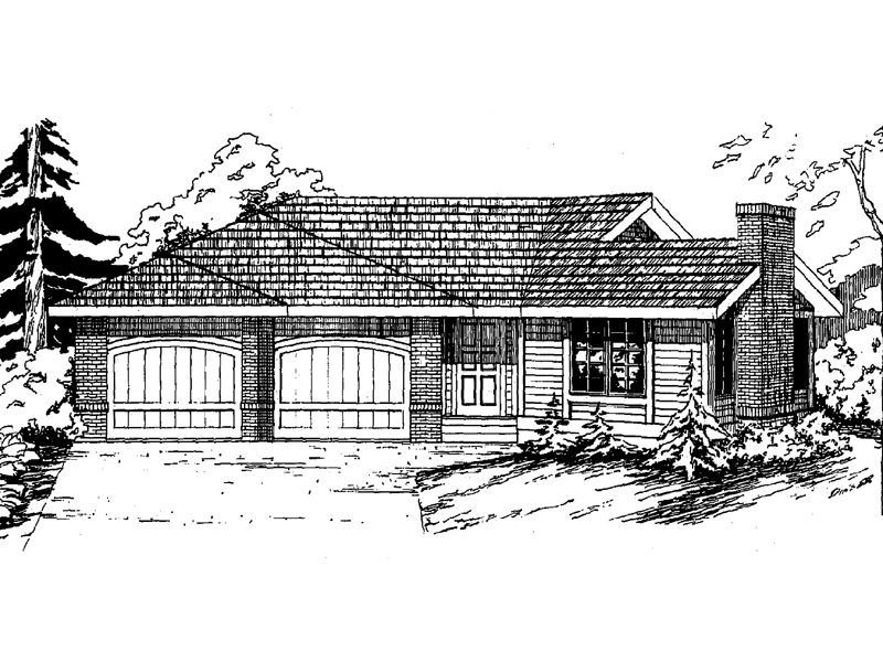 Simple Ranch Offers A Two-Car Garage