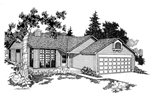 Contemporary House Plan Front of Home - 085D-0224 | House Plans and More