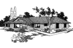 Ranch House Plan Front of Home - 085D-0229 | House Plans and More