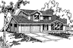 Traditional Country Home With Angled Entry