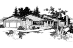 Ranch House Plan Front of Home - 085D-0232 | House Plans and More