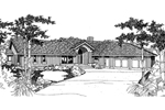 Ranch House Plan Front of Home - 085D-0233 | House Plans and More