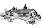 Country House Plan Front of Home - 085D-0234 | House Plans and More