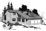 Bungalow House Plan Front of Home - 085D-0236 | House Plans and More