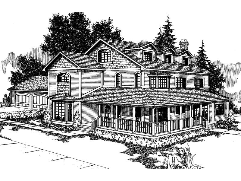 Farmhouse Plan Front of Home - 085D-0238 | House Plans and More