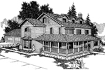 Country House Plan Front of Home - 085D-0238 | House Plans and More