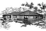 Vacation Home Plan Front of Home - 085D-0239 | House Plans and More