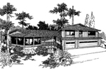 Contemporary House Plan Front of Home - 085D-0242 | House Plans and More