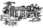 European House Plan Front of Home - 085D-0244 | House Plans and More