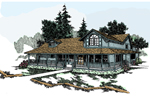 Lake House Plan Front of Home - 085D-0245 | House Plans and More