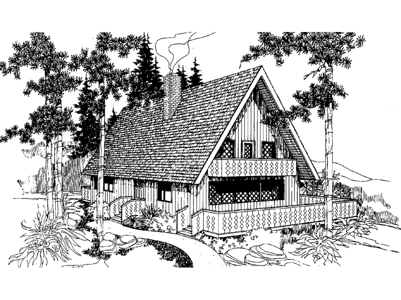 Cabin and Cottage Plan Front of Home - 085D-0246 | House Plans and More