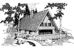 A-Frame Home Plan Front of Home - 085D-0246 | House Plans and More