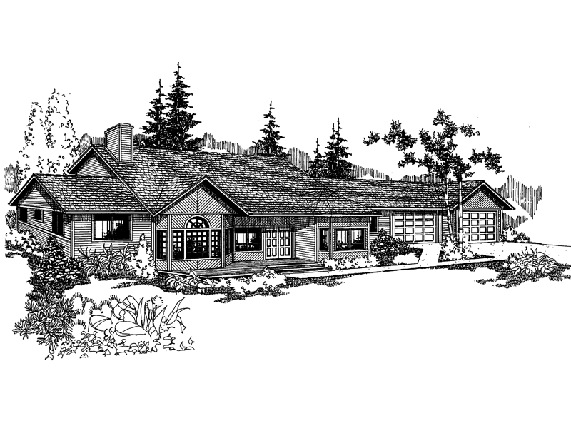 Traditional House Plan Front of Home - 085D-0247 | House Plans and More