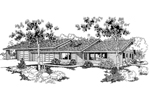 Ranch House Plan Front of Home - 085D-0248 | House Plans and More