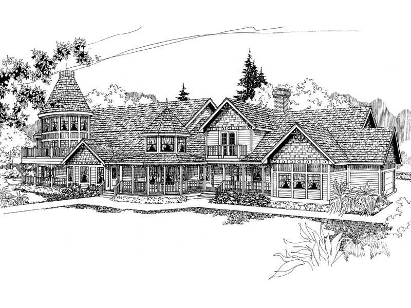 Country House Plan Front of Home - 085D-0249 | House Plans and More