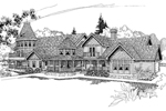 Farmhouse Plan Front of Home - 085D-0249 | House Plans and More