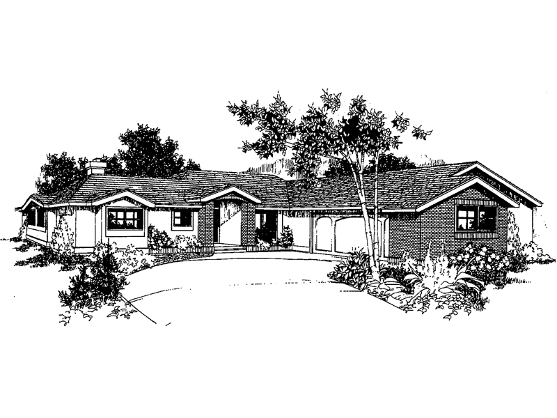 Tudor House Plan Front of Home - 085D-0250 | House Plans and More