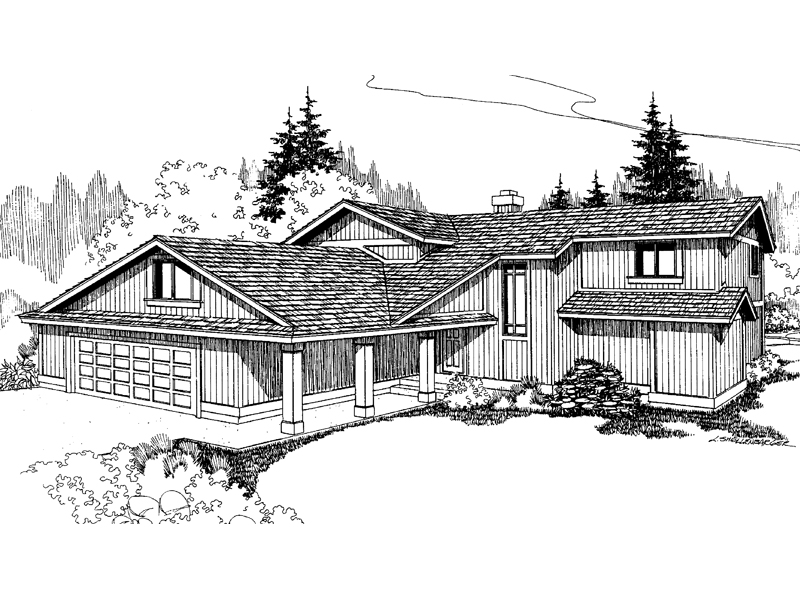 Traditional House Plan Front of Home - 085D-0251 | House Plans and More