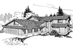 Country House Plan Front of Home - 085D-0251 | House Plans and More