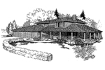 Farmhouse Plan Front of Home - 085D-0253 | House Plans and More