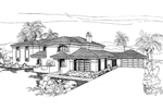Contemporary House Plan Front of Home - 085D-0254 | House Plans and More
