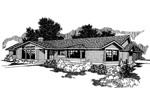 Traditional House Plan Front of Home - 085D-0255 | House Plans and More