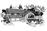 Ranch House Plan Front of Home - 085D-0257 | House Plans and More