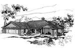 Ranch House Plan Front of Home - 085D-0258 | House Plans and More