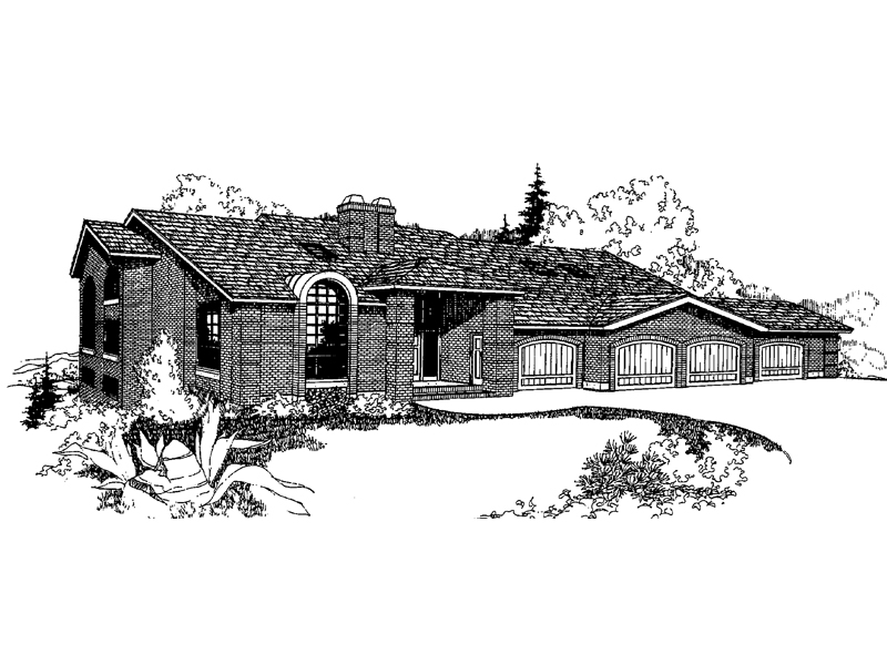 Traditional House Plan Front of Home - 085D-0259 | House Plans and More