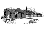 Contemporary House Plan Front of Home - 085D-0259 | House Plans and More