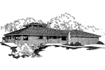 Ranch House Plan Front of Home - 085D-0260 | House Plans and More