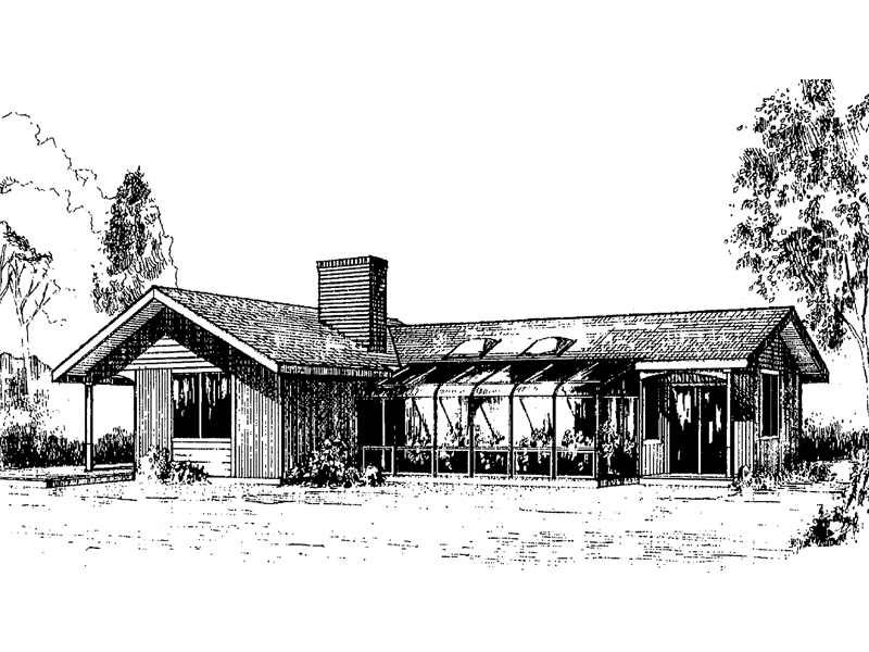 Ranch House Plan Front of Home - 085D-0261 | House Plans and More