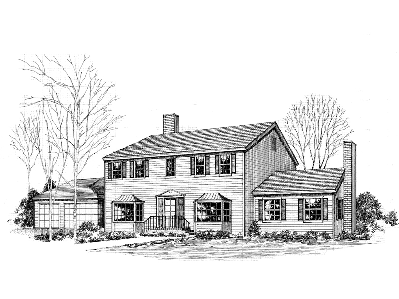 Colonial Floor Plan Front of Home - 085D-0263 | House Plans and More