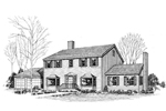 Colonial House Plan Front of Home - 085D-0263 | House Plans and More