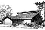 Ranch House Plan Front of Home - 085D-0264 | House Plans and More