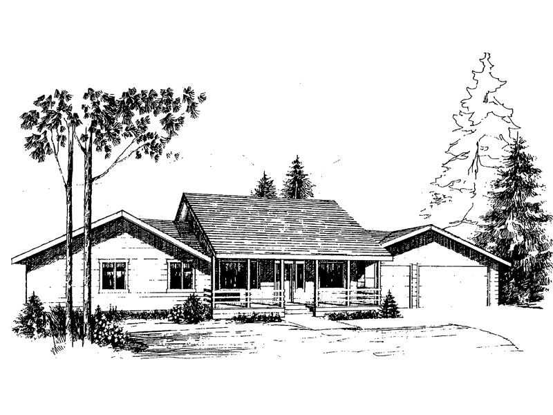 Ranch House Plan Front of Home - 085D-0265 | House Plans and More