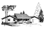 Country House Plan Front of Home - 085D-0265 | House Plans and More