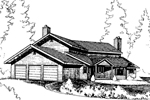 Contemporary House Plan Front of Home - 085D-0267 | House Plans and More