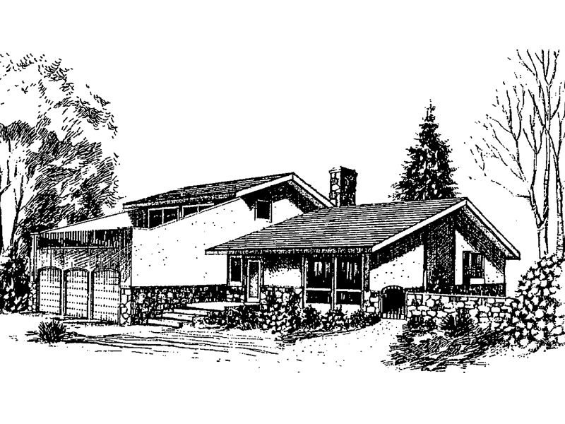 English Cottage House Plan Front of Home - 085D-0268 | House Plans and More